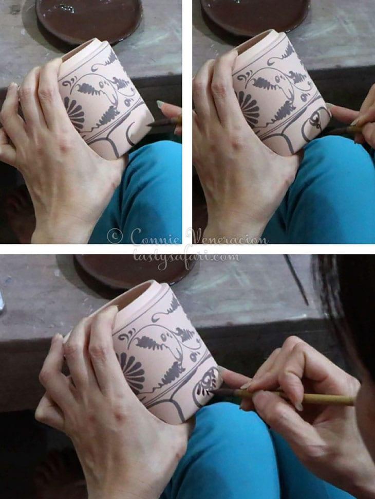 hand painting ceramics