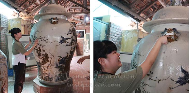 Sam Veneracion and a gigantic 200-year-old vat, Bat Trang Village, Vietnam