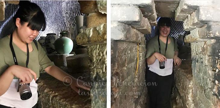 Sam Veneracion inside the 500-year-old kiln, Bat Trang Village, Vietnam