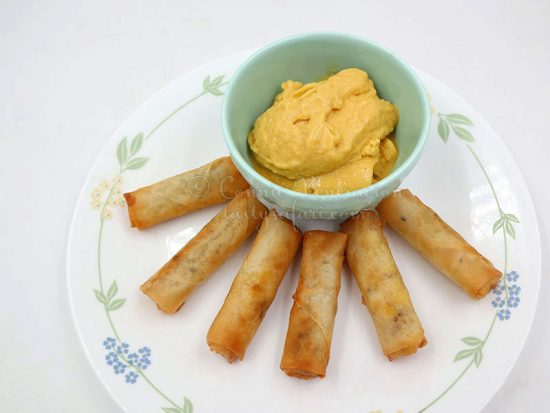 Vietnamese Banana Spring Rolls with Mango Coconut Ice Cream
