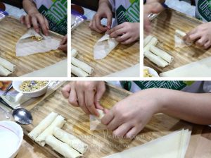 How to Wrap Vietnamese Banana Spring Rolls