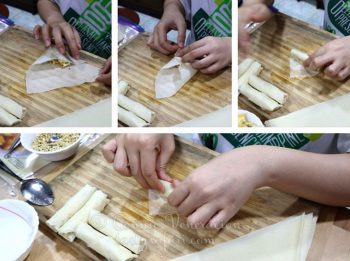 How to Wrap Vietnamese Banana Spring Rolls