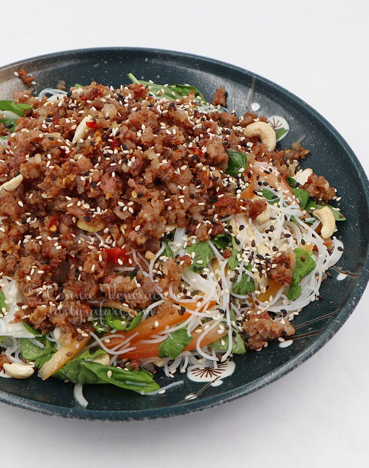 Sweet tangy and spicy Thai glass noodle salad