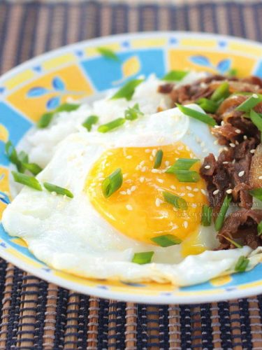 Gyudon (Japanese Beef and Rice Bowl)