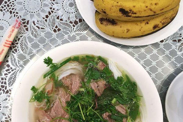 Beef pho for breakfast, Hanoi View 2 Hotel
