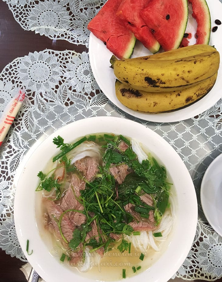Beef pho for breakfast, Hanoi View 2 Hotel