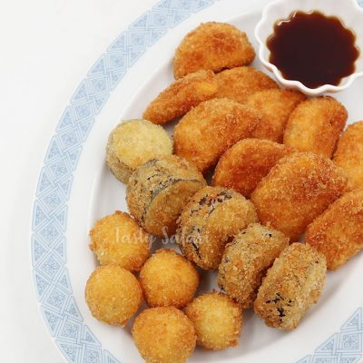 How to cook Kushikatsu-style deep fried breaded vegetables and quail eggs