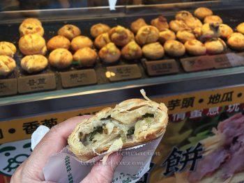 Scallion pancakes, Tamsui Old Street, Taipei