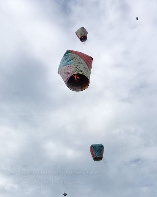 Sky lanterns in Shifen