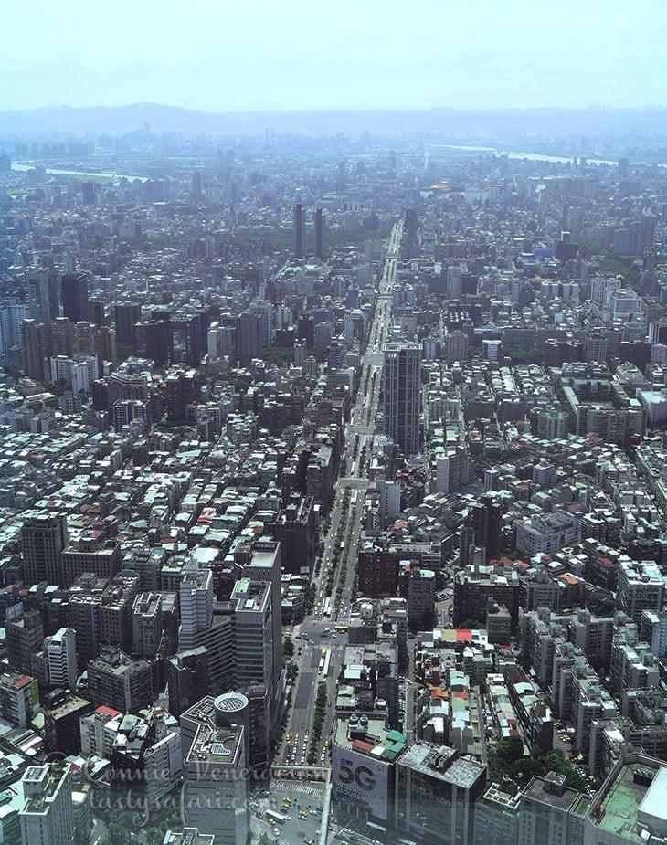 Taipai cityscape viewed from Taipei 101