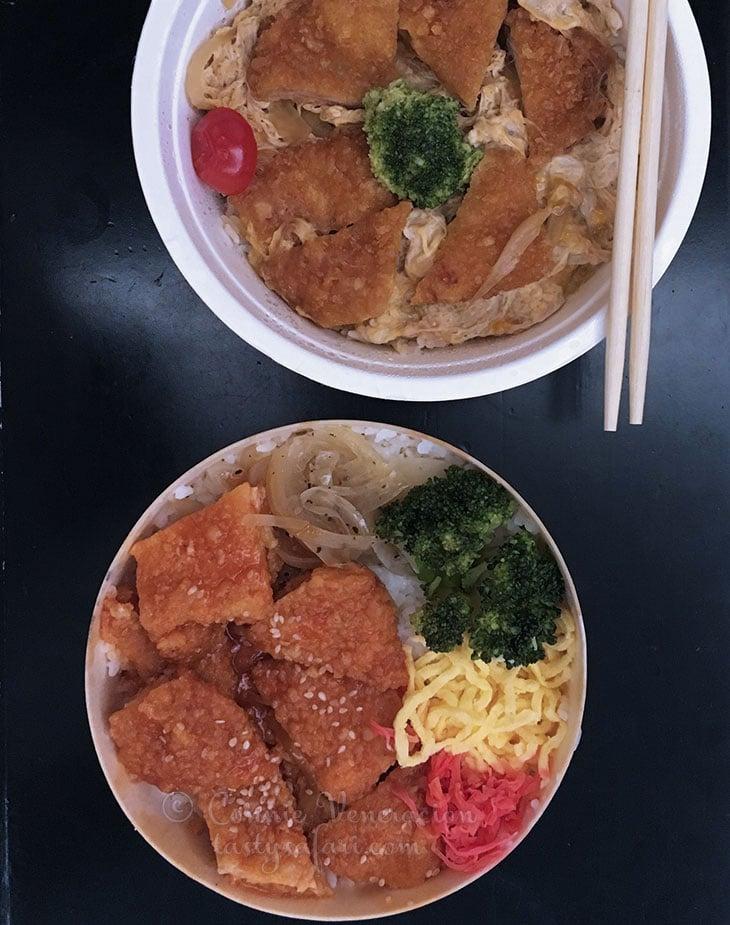 Bento box-style meals in Taipei