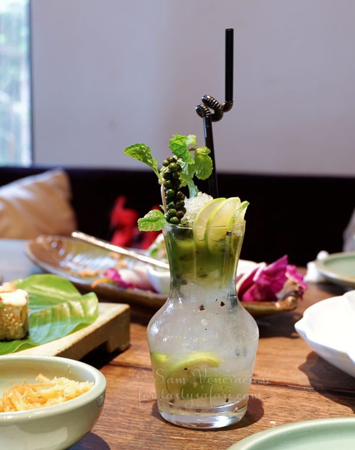 Salty lemonade with Phu Quoc pepper and basil, Uu Dam Chay, Hanoi