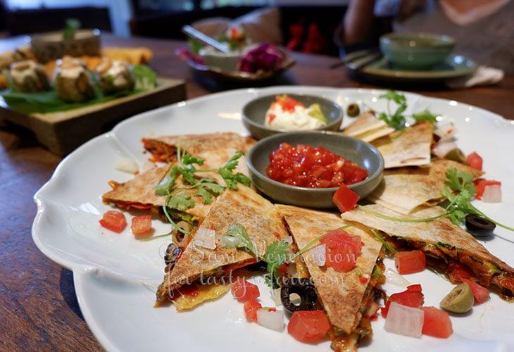 Vegan tacos at Uu Dam Chay, Hanoi