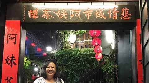 Connie Veneracion in Jiufen, Taiwan