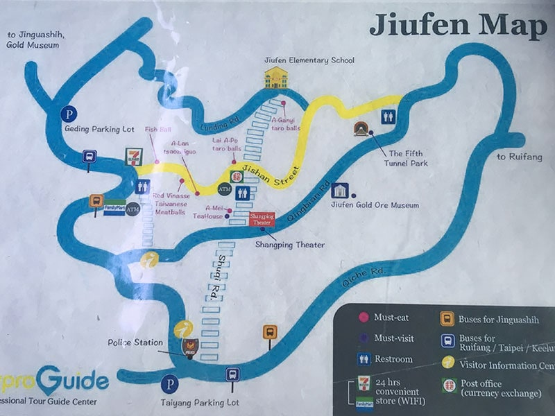 Map of Jiufen