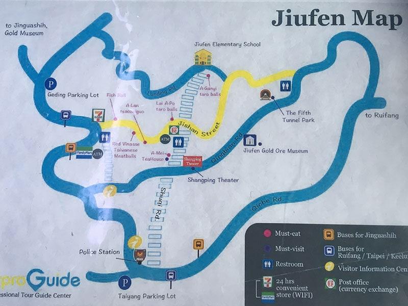 Map of Jiufen