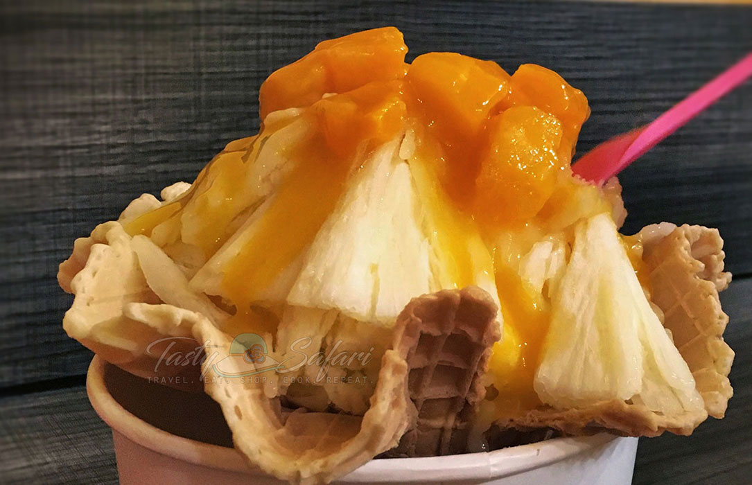 Mango shave ice in Tamsui