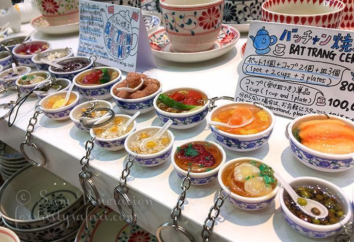 Food themed key chains, Hanoi