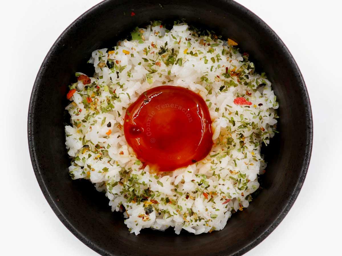Homemade shoyuzuke egg yolk