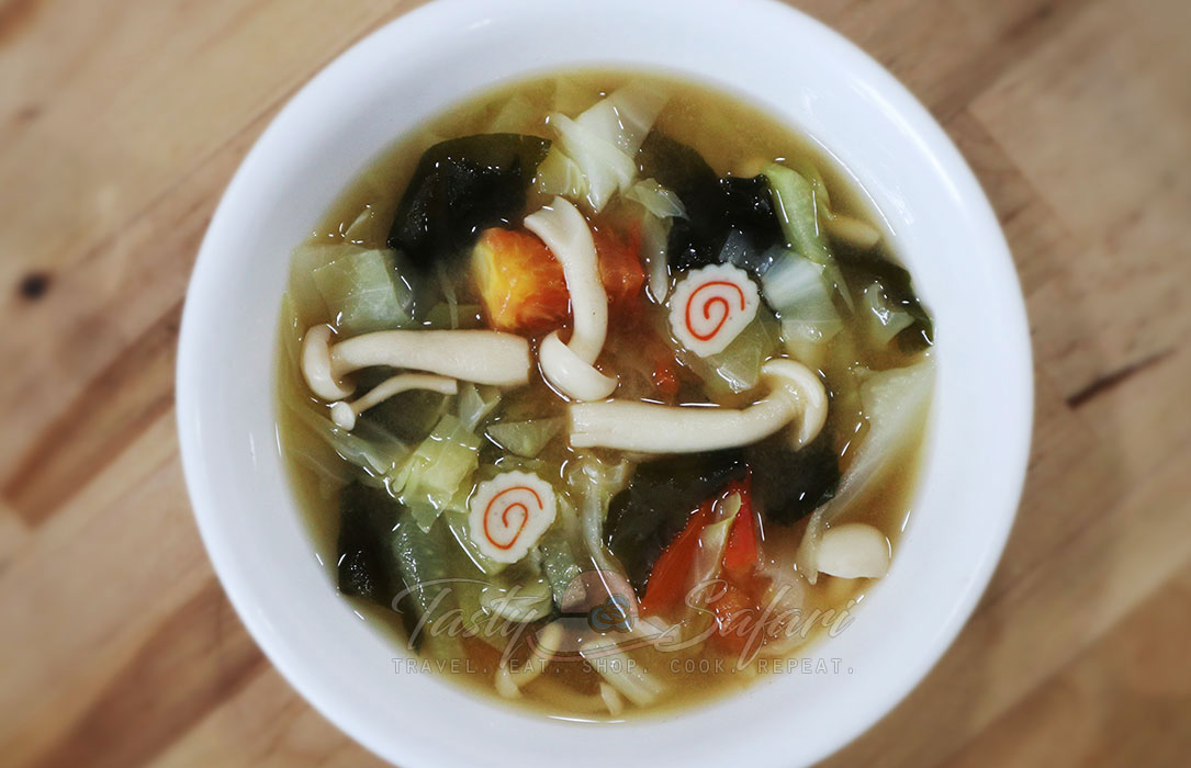 Vegetable and mushroom miso soup recipe