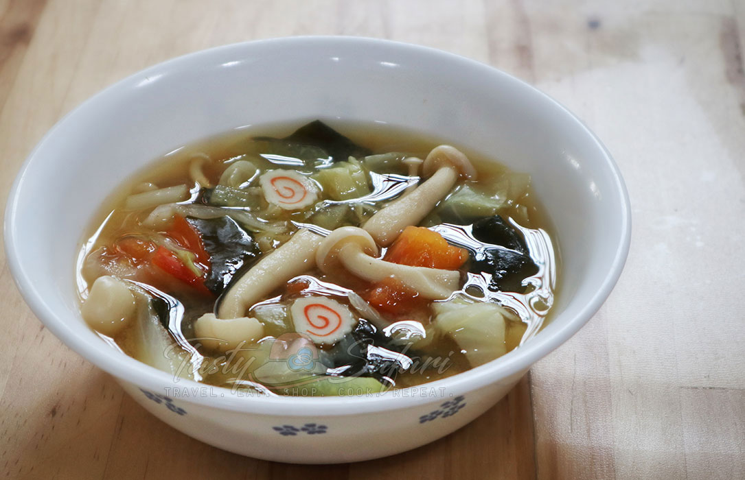 How to cook vegetable and mushroom miso soup