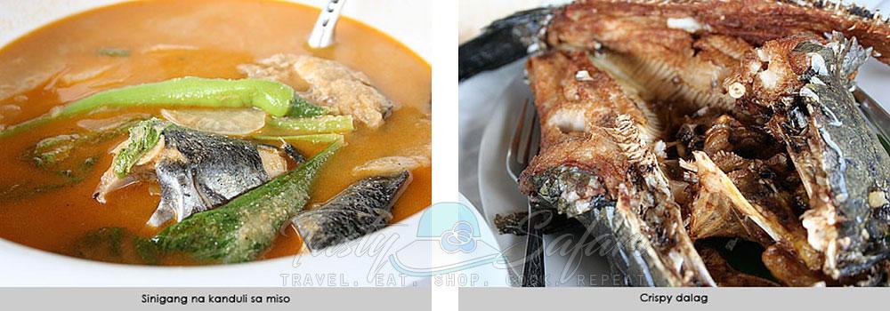 Sinigang na kanduli sa miso and crispy dalag. Bulawan Floating Restaurant. Pililla, Rizal.