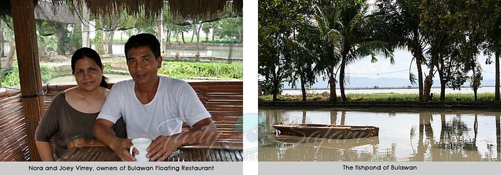 Nora and Joey Virrey, owners of Bulawan Floating Restaurant