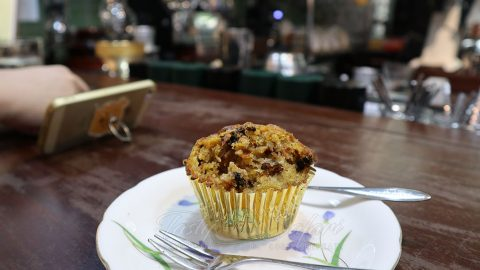 Carrot cupcake at The Yellow Chair Cafe, Saigon