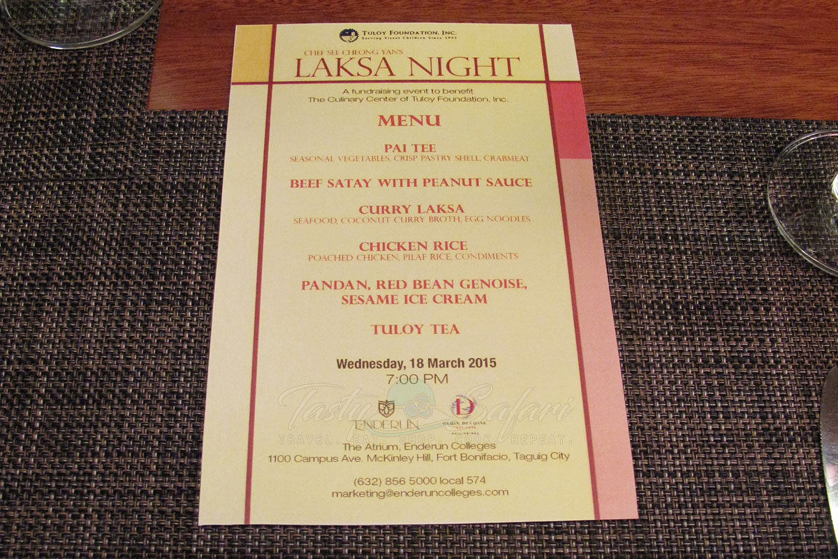 Enderun Colleges' Laksa Night: hawker food, fine-dining style
