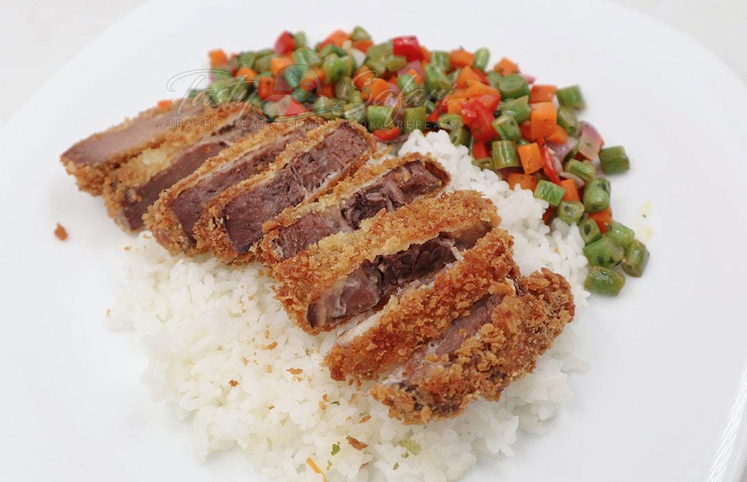 Gyutan Katsu (Fried Breaded Beef Tongue)