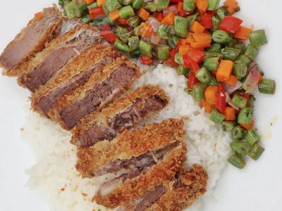 Gyutan Katsu (Fried Breaded Beef Tongue) Recipe