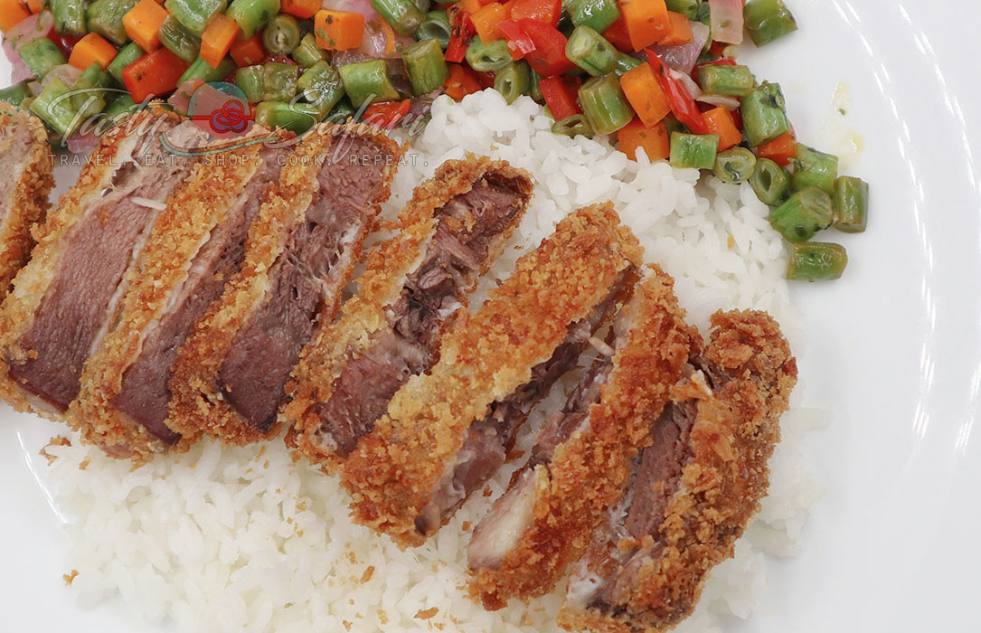 How to Cook Gyutan Katsu (Fried Breaded Beef Tongue)