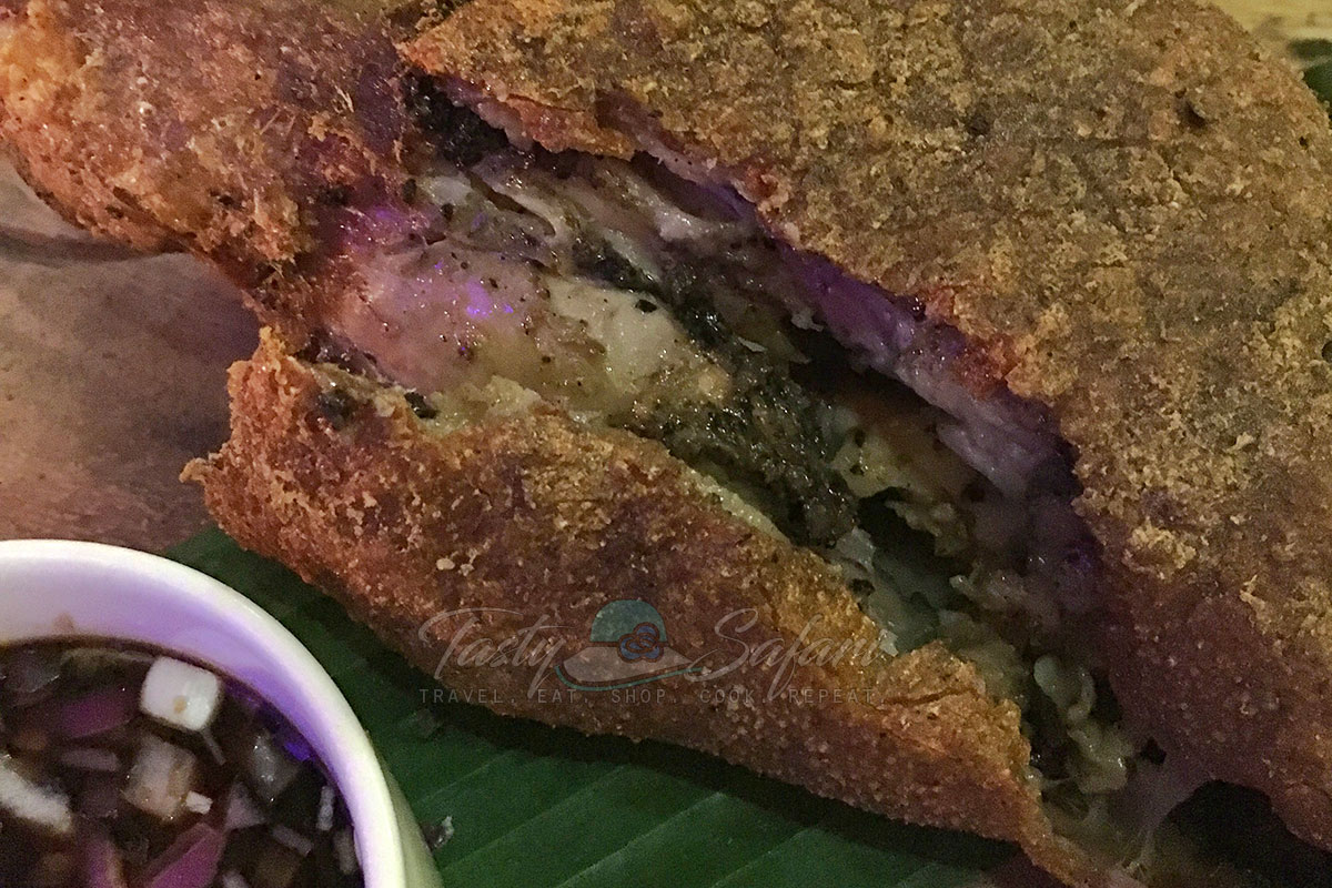 Inside the crispy pata at Livestock