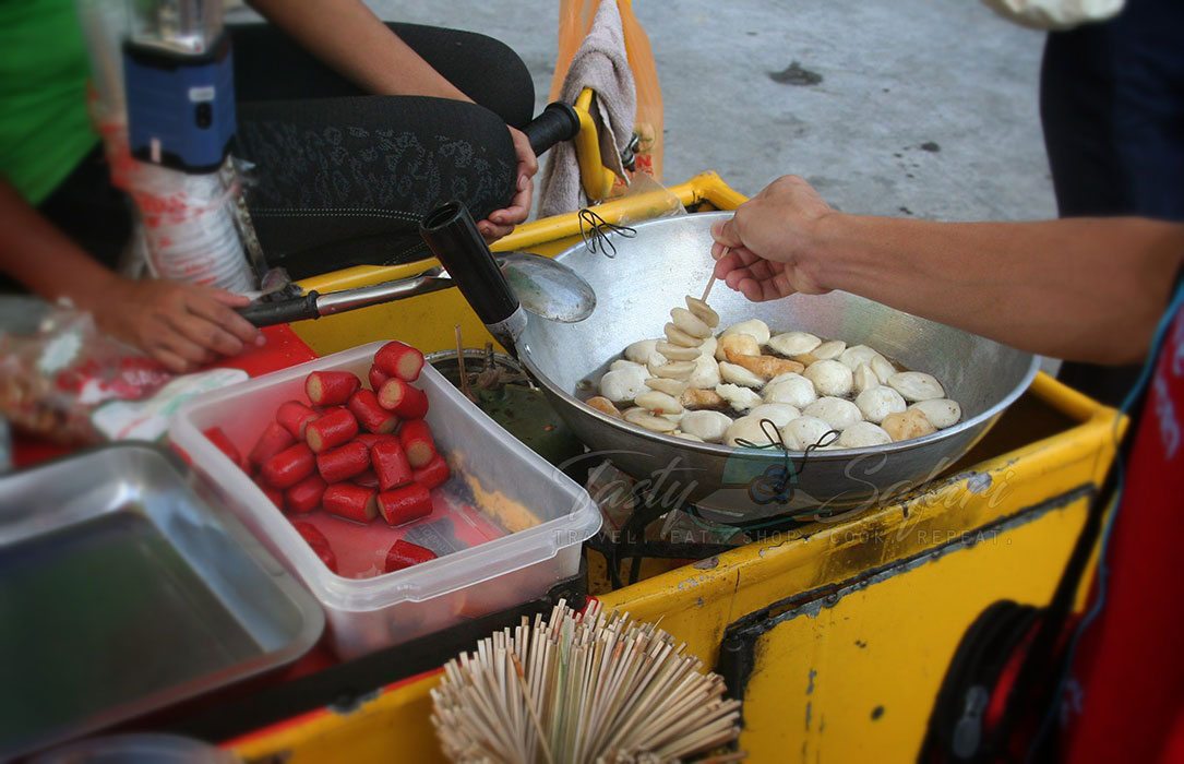 Fish balls. Antipolo City, the Philippines