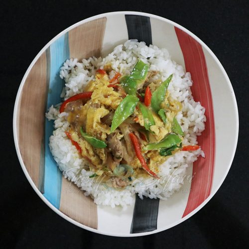 Oyakodon-style Chicken, Egg and Vegetables Rice Bowl Recipe