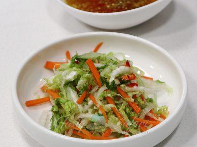 Asian coleslaw with Vietnamese Mixed Fish Sauce