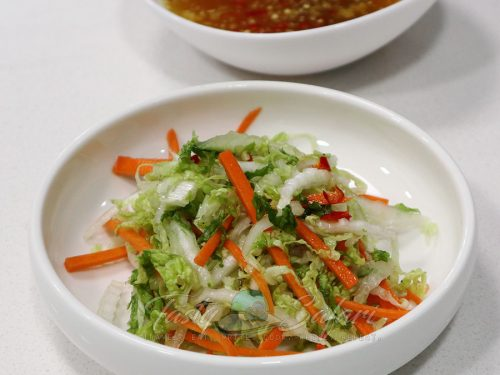 Asian coleslaw with Vietnamese Mixed Fish Sauce