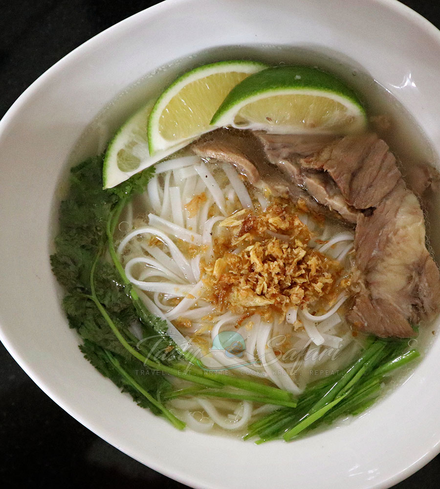 Home cooked beef pho recipe