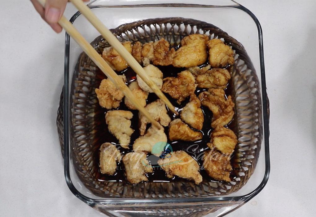 Marinating Chicken Nanban