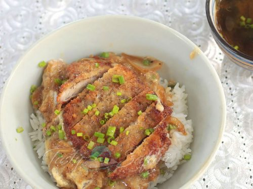 Katsudon (Japanese Fried Pork Cutlet and Eggs Rice Bowl) Recipe