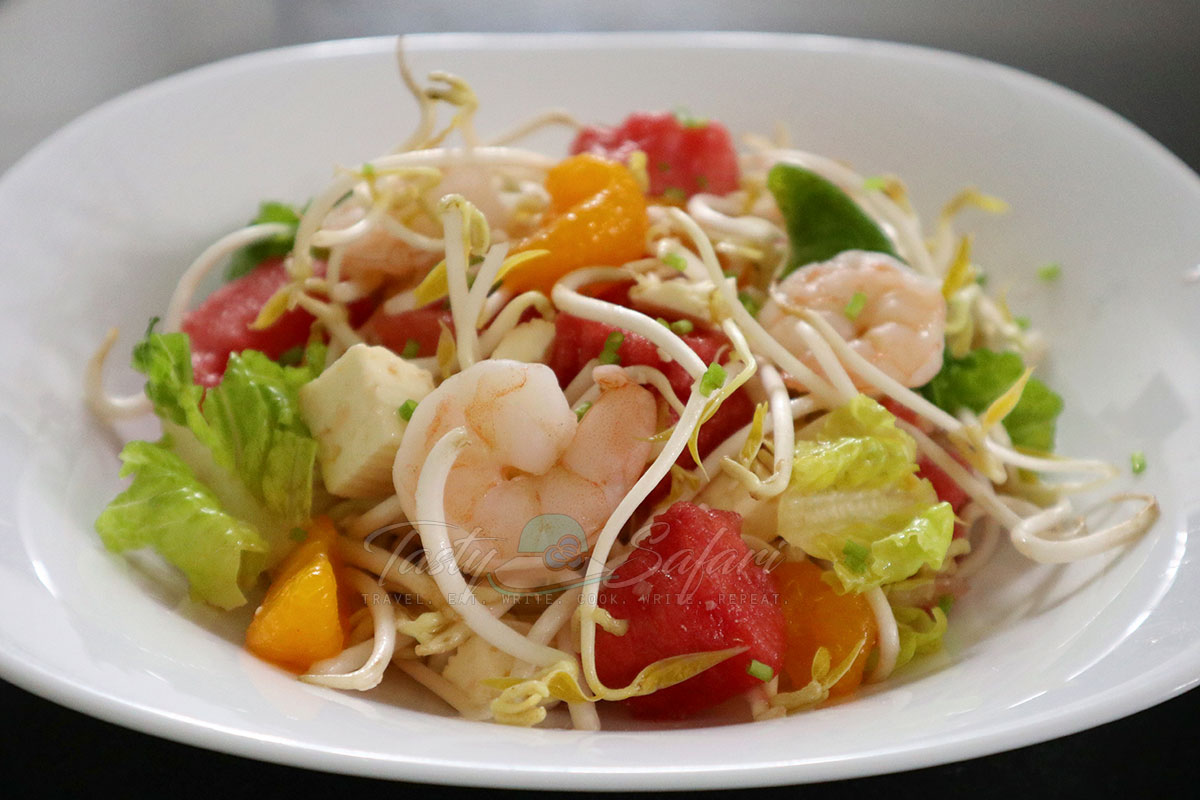 Shrimp and watermelon salad with Vietnamese mixed fish sauce recipe