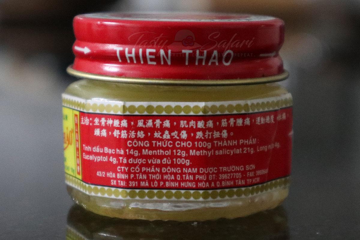 Ingredients of Thien Thao