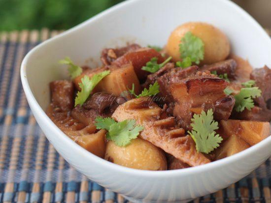 Vietnamese Caramel Pork with Eggs and Bamboo Shoots Recipe