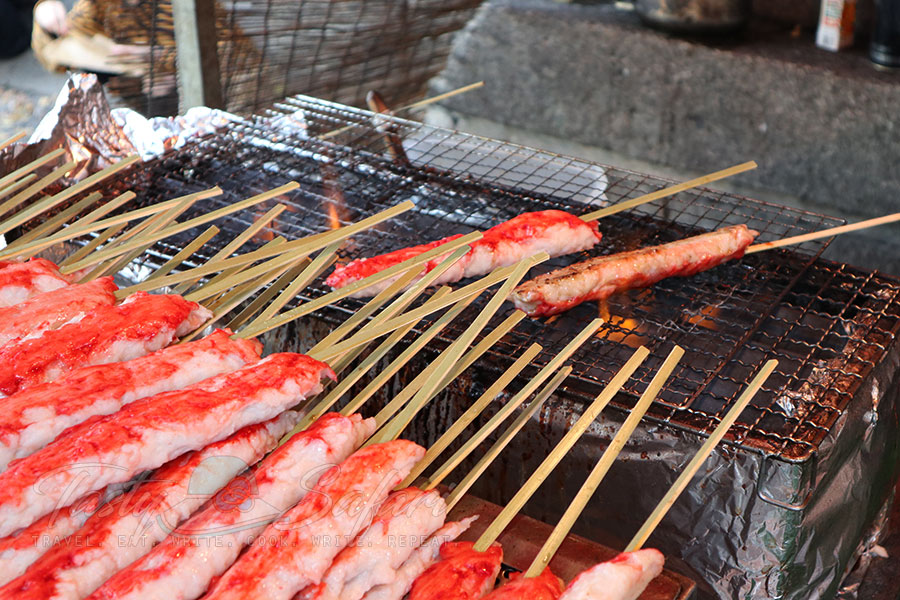 Oversized crab sticks. Kyoto, Japan