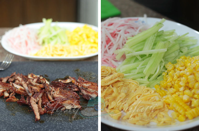 Hiyashi Chuka (Cold Ramen) Recipe, Step 3: Slice the pork