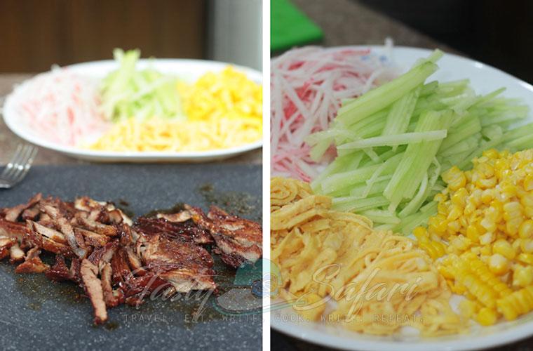 Hiyashi Chuka (Cold Ramen) Recipe, Step 3: Slice the pork