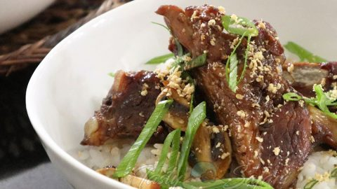 Pork Ribs and Mushrooms Teriyaki Recipe