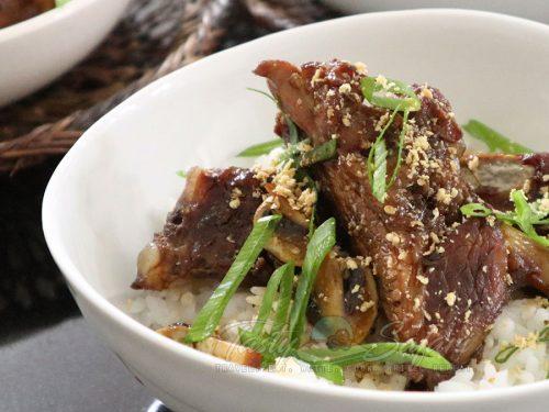 Pork Ribs and Mushrooms Teriyaki Recipe