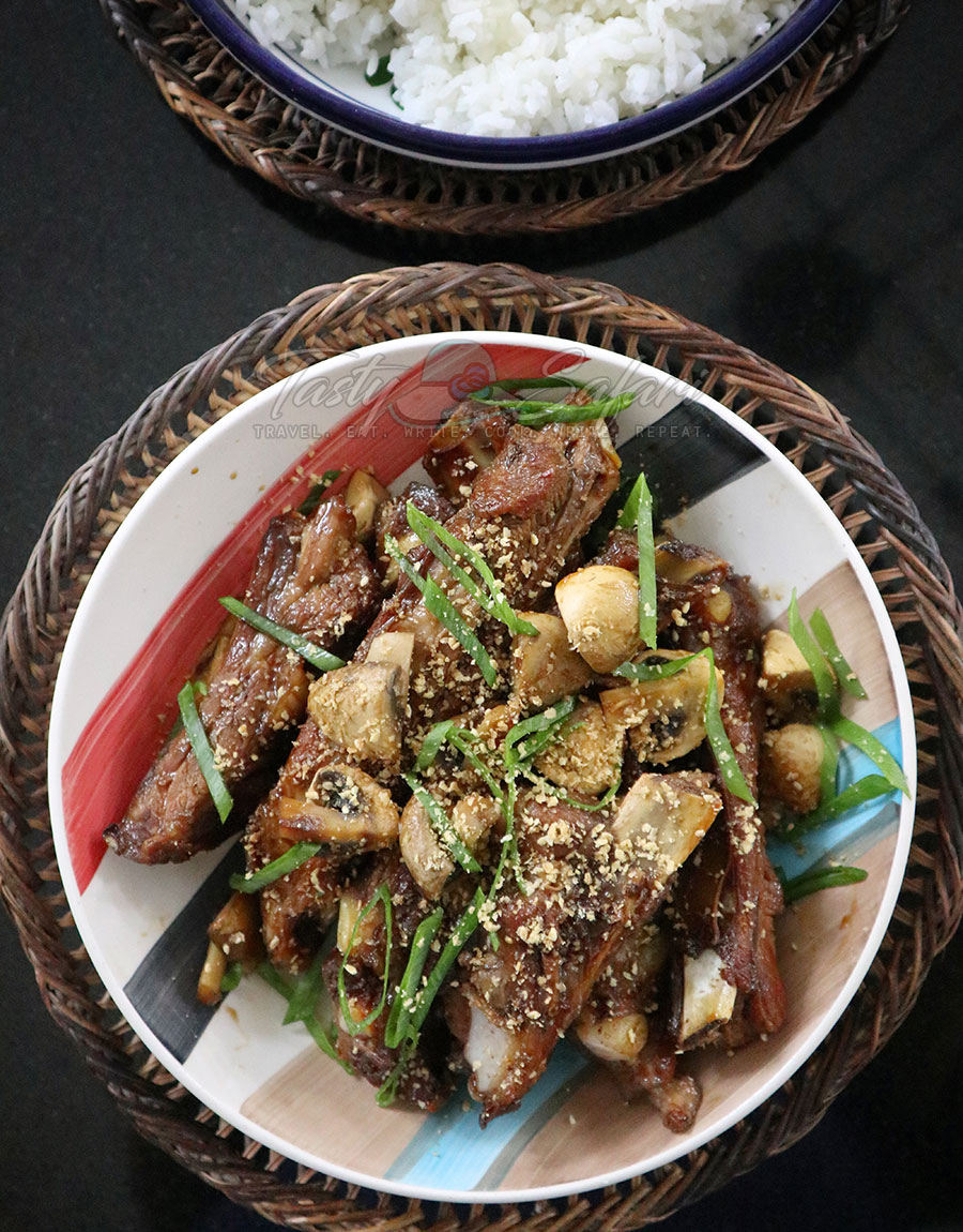 How to Cook Pork Ribs and Mushrooms Teriyaki