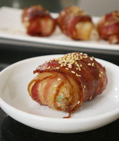 How to cook teriyaki bacon rice balls